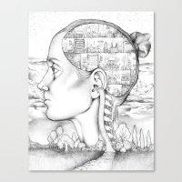 Mind Mansion Mandala for Memory Meditation  Canvas Print
