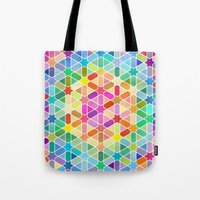 Rainbow Honeycomb With S… Tote Bag