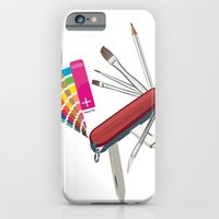iPhone & iPod Case featuring Artist Pocket Knife by Carley Lee