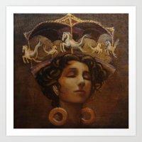 Brass Ring Dream Art Print