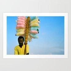 Cotton Seller Art Print