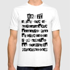 Bad Pi Mens Fitted Tee White SMALL