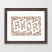 AMOR Framed Art Print