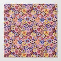 Millefiori-Sunset Colorw… Canvas Print