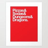 Dungeons & Dragons & Swa… Art Print