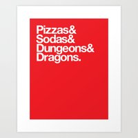 Dungeons & Dragons & Swa… Art Print