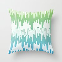 Trippy Drippys Throw Pillow