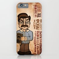 iPhone & iPod Case featuring Ron Swanson 3 by maykel nunes