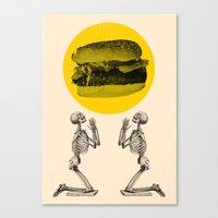 Hamburger Pray Canvas Print