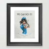 We Can Do It! Framed Art Print