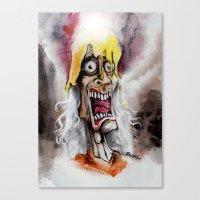 A Golden Cr[OWW!]n Canvas Print