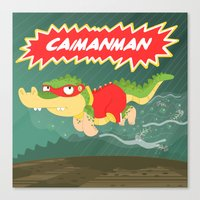 Caimanman Canvas Print