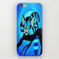 Blue Cat  iPhone & iPod Skin