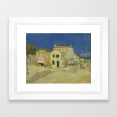 The Yellow House By Vinc… Framed Art Print