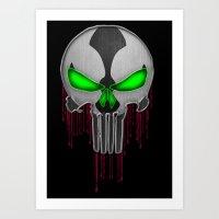 Punisher Spawn Mash-Up Art Print