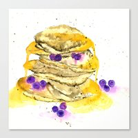 fluffy pancake Canvas Print