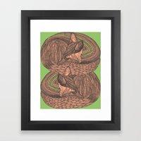 Sleeping Foxes Framed Art Print