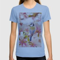 Blossom Buddies Womens Fitted Tee Athletic Blue SMALL