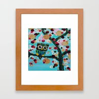 :: Gemmy Owl Loves Jewel Trees :: Framed Art Print