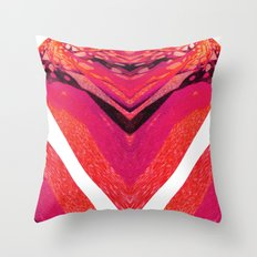 Pink Warp II Throw Pillow