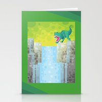 Dino Falls Stationery Cards