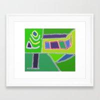 Blocks And Colors Framed Art Print