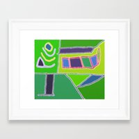 Blocks and Colors Framed Art Print