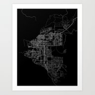 Anchorage Map Alaska Art Print