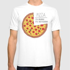 Pizza Pie Chart White Mens Fitted Tee SMALL