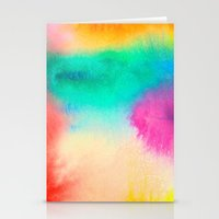 Bright Abstract Watercolor 1 Stationery Cards