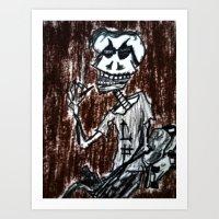 Smoke Til The Skin Falls… Art Print