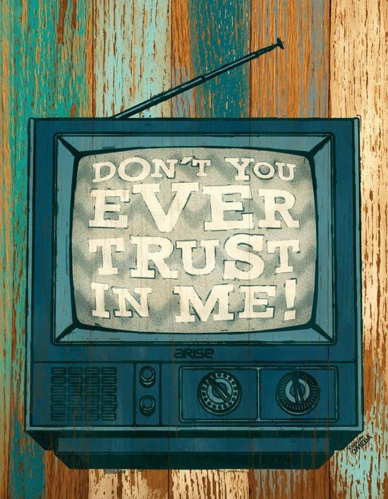 don't trust (blue variant) Canvas Print