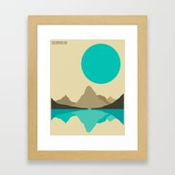 Framed Art Print featuring GLACIER NATIONAL PARK by Jazzberry Blue