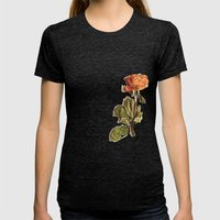 Rose Womens Fitted Tee Tri-Black SMALL