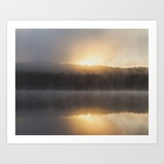 layers of the morning Art Print