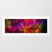 Vegetal Collage Art Print