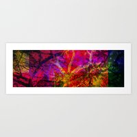 Vegetal Collage Art Print