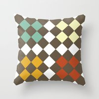 Checkers Fall Throw Pillow