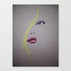 Blond Nose Eyes Lips Canvas Print