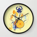 One man (five monkey) band Wall Clock