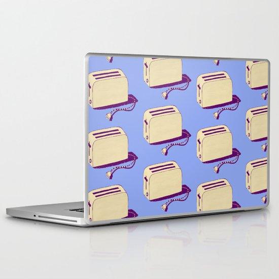Toaster (blue & cream) Laptop & iPad Skin