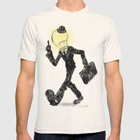 The Idea Man Mens Fitted Tee Natural SMALL