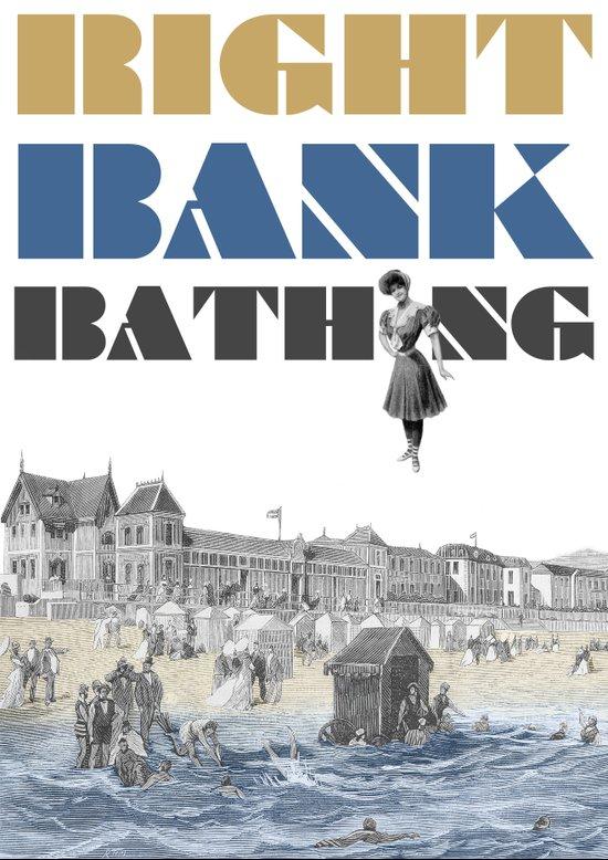 Right bank bathing Canvas Print