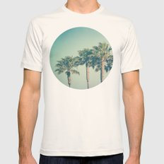 Palms Mens Fitted Tee Natural SMALL