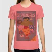 Avengers Fan Art Womens Fitted Tee Pomegranate SMALL