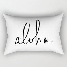 Aloha Hawaii Typography Rectangular Pillow