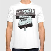 Old deli sign Mens Fitted Tee White SMALL