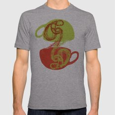 Coffee and tea time Mens Fitted Tee Athletic Grey SMALL