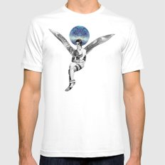 DAVID BOWIE ANGEL Mens Fitted Tee White SMALL