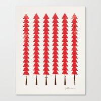 Fancy Trees Canvas Print